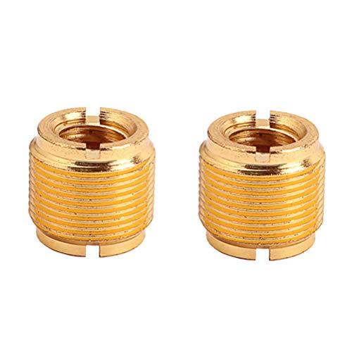 Healifty Gewinde-Schrauben-Adapter für Mikrofonständer Clip 5/8 Zoll Stecker auf 3/8-Zoll-Buchse Mic (Golden)