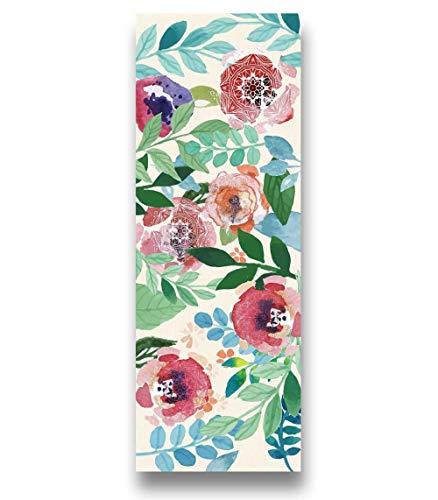 AGAGRG Esterilla de yoga con impresión antideslizante, diseño de hojas de plantas, Tpe Eco ejercicio Mat 1,5 mm ultra delgada, unisex en casa, gimnasio, fitness, pilates, aeróbico, yoga caliente