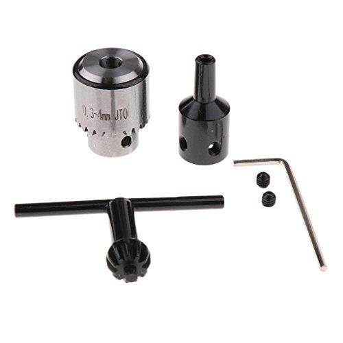 0.3-4mm Professionale Mandrino con Trapano Chiave e Con Lo Strumento Chiave Albero Adatto con Albero Motore 6mm Diametro