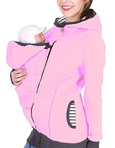 Huixin Tragejacke Für Mama Und Umstandsjacke Jacke Baby Elegante Für Damen Winter Fleece Warm Softhell Tragetuch Babytrage Schwangerschaftsjacke Kapuzenjacke Sweatshirts Schwarz Blau