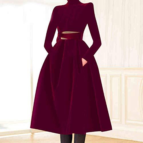 Fluwelen jurk hollowed Tie Bow Dames Meisjes Dunne A-lijn Rok Temperament Herfst en Winter Jurk