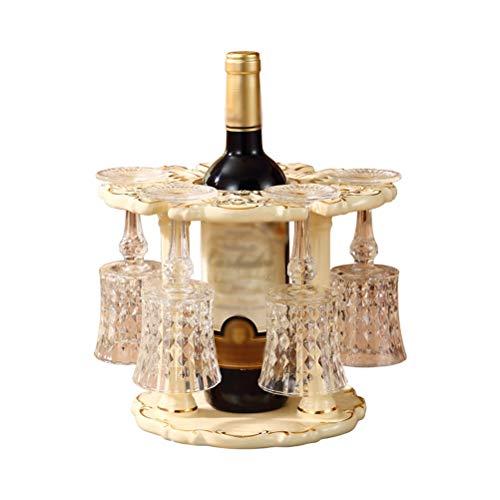 Botelleros - Estante para vinos Revés Estante de exhibición de Almacenamiento de Botellas de Vidrio de Vino Decoración de la Oficina de Creative Home Bar, (Tamaño: 25X25X20CM) -0507
