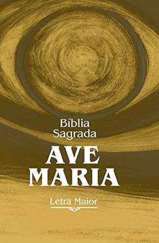 Bíblia Sagrada Ave-Maria - Letra Maior. Capa Zíper Marrom