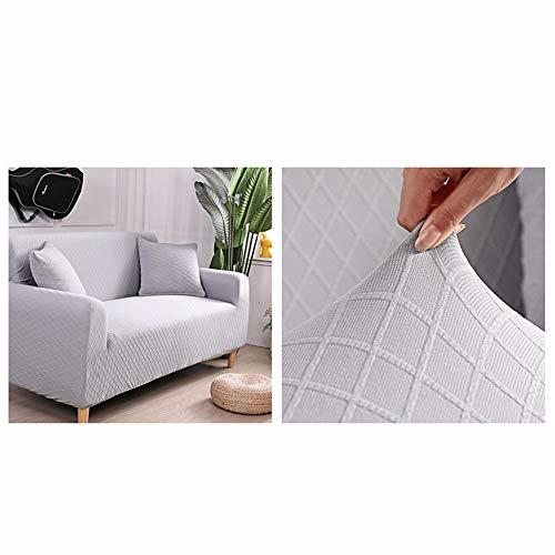 Housse de canapé extensible doux Color sólido Funda elástica for sofá de 1 2 3 plazas, Cubierta Antideslizante en Tejido elástico Extensible, Protector de sofá ( Color : 5 , Size : Three 190cm-230cm )