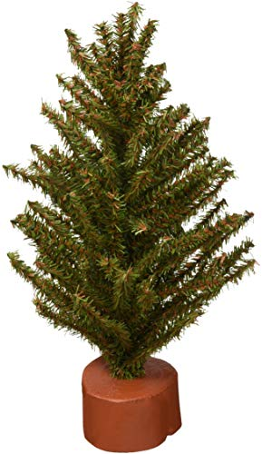 Darice Mixed Pine Tree with Wood Base - 120 Tips - 12 inches (1 pack)