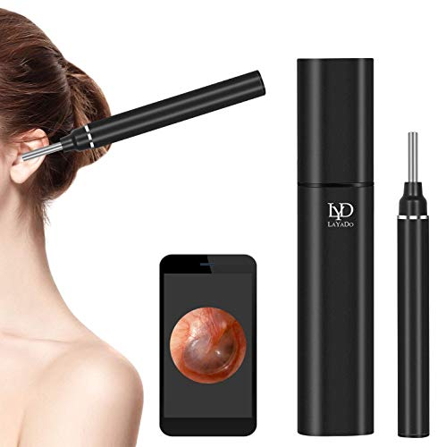 LAYADO Otoscope, Upgraded 3.9mm 1080P HD WiFi Ear Camera with 6 LED Lights and Ear Wax Removal Tool for Kids and Adults, Compatible with Android and iPhone