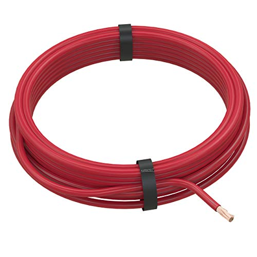 AUPROTEC Fahrzeugleitung 4,0 mm² FLRY-B als Ring 5m oder 10m Auswahl: 5m, rot