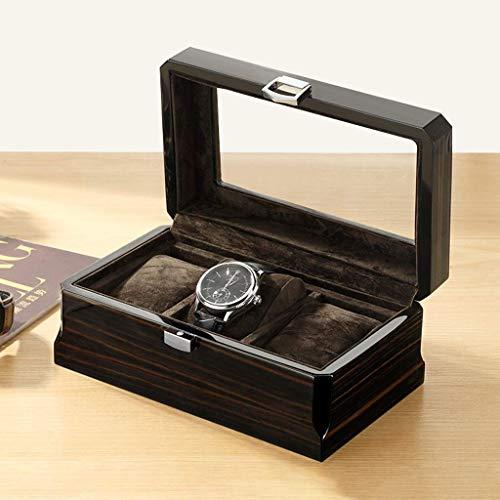 Welry Box - Lass Secciones Superiores de Madera, Reloj box3, Caoba FinishColor: Un GDSZMMLS (Color : B)