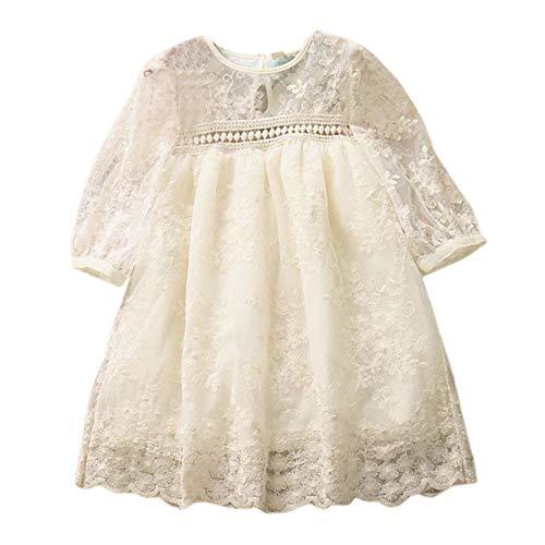 Unbekannt  Allence Baby Mädchen Kleidung Langarm Taufkleid Spitzen Partykleid Blumenmädchen Kleid 1. Geburtstag Kleider Kurzarm Outfits 3-24 Monate