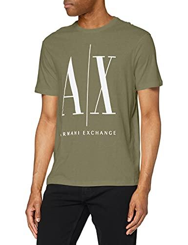 ARMANI EXCHANGE Icon T T-Shirt, Verde (Beetle 1803), X-Small Uomo