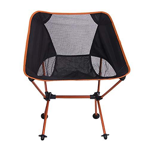 Silla de camping portátil KISSBELLY compacta, plegable y ligera, de 150 kg, sillas de camping con bolsa de transporte para pesca al aire libre, campamento de playa, picnic, concierto senderismo