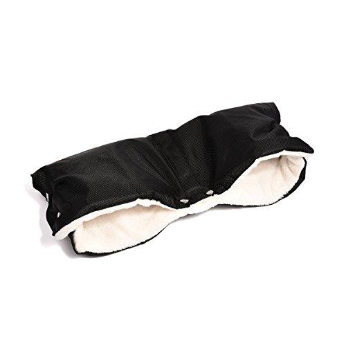 upgrow calentador de manos resistente al agua guantes con cálido franela–Calientamanos para cochecito universal tamaño negro negro Talla:talla única