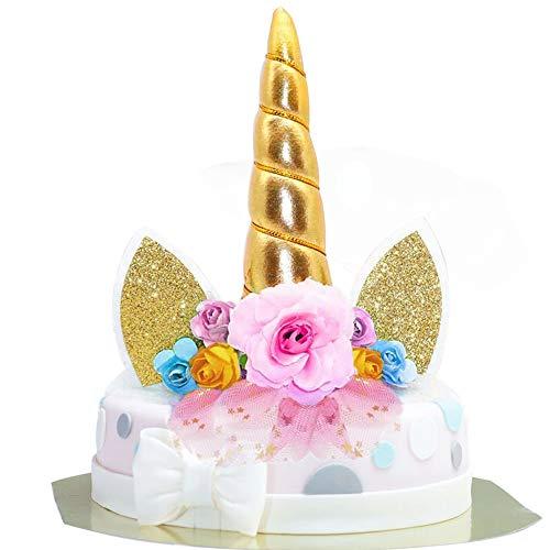 Gâteau de Licorne Décorations, Unicorn Cake Topper Licorne Décoration de fête pour fête prénatale, Mariage et fête d'anniversaire