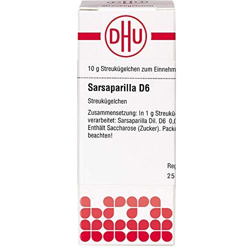 DHU Sarsaparilla D6 Streukügelchen, 10 g Globuli