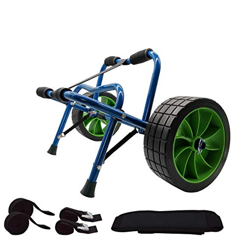 Newcod Kayak Cart Kayak Trolley Carrier Dolly Trailer for Canoe Boat with...