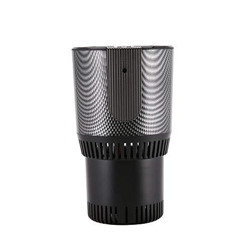MLYWD Smart Cup, 2-in-1 autoverwarming/koeling, 12 V, smart desktop, warme koude kop, elektrische aan-knop, auto, snelle warme en koude kop, voor huis en auto