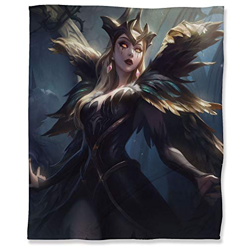 ARYAGO Coven LeBlanc - Manta de felpa (100 x 130 cm), diseño de League Legends