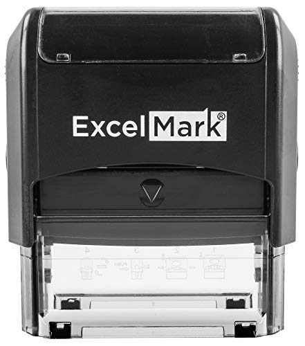 ExcelMark Large Return Address Stamp - Up to 5 Lines - Custom Self Inking Rubber Stamp - Customize Online with Many Font Choices - Large Size Photo #3