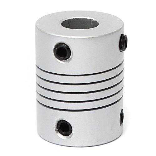 ZOYOSI Flexible Aluminiumwellenkupplung, 5 mm x 8 mm, OD19 mm x L25 mm,...