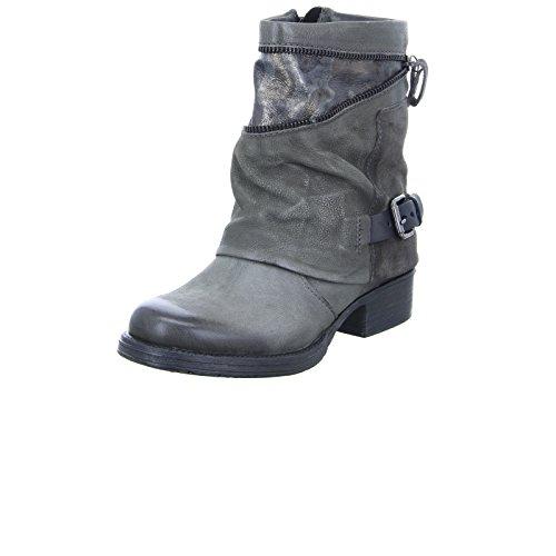 Mjus Damen Stiefelette 185672 Boots Leder Grau, Größe 36