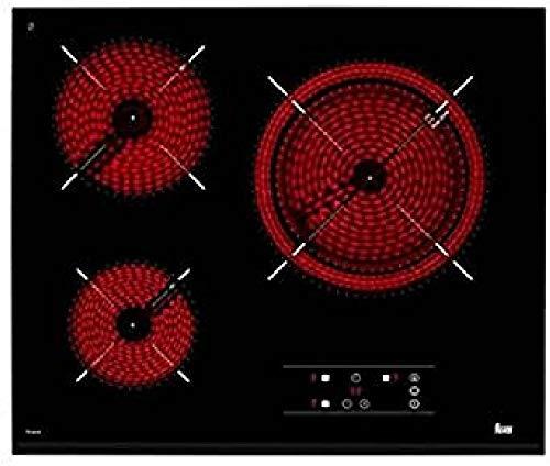 Teka TZ6315 Integrado Cerámico Negro - Placa (Integrado, Cerámico, Vidrio, Negro, 14,5 cm, 18 cm)