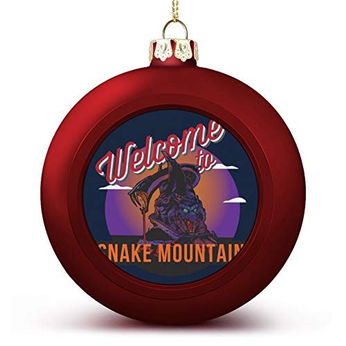 VNFDAS Welcome To Snake Mountain He Man Masters Of The Universe Custom Christmas ball ornaments Beautifully decorated Christmas ball gadgets Perfect hanging ball for holiday wedding party decoration