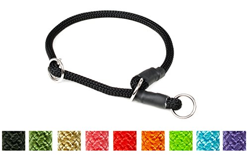Mystique® Halsband Nylon rund mit Zugbegrenzung 8mm türkisblau 55cm