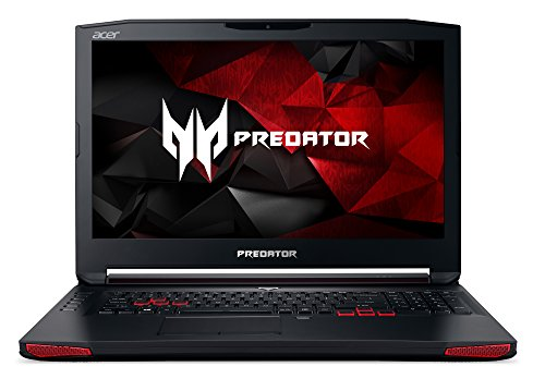 Acer Predator 17 G9-793-774D 43,9 cm (17,3 Zoll Ultra-HD IPS matt) Gaming Laptop (Intel Core i7-7700HQ, 64GB RAM, 512GB PCIe SSD, 1000GB HDD, NVIDIA GeForce GTX 1070, 8GB VRAM, Win 10) schwarz/rot
