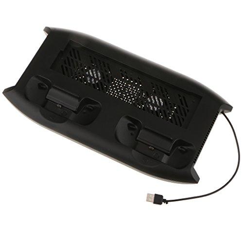 D DOLITY Support Vertical Avec Le Ventilateur De Refroidissement, Station De Charge De Contrôleur Pour La Console De Jeu De Xbox One X