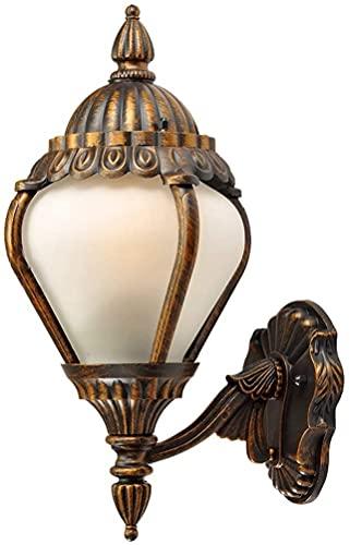 Lámpara de pared a prueba de polvo a prueba de agu Luces de pared al aire libre, lámpara de jardín con cable Montado en la pared European Sconce Indoor External Wall Iluminación impermeable LED lámpar