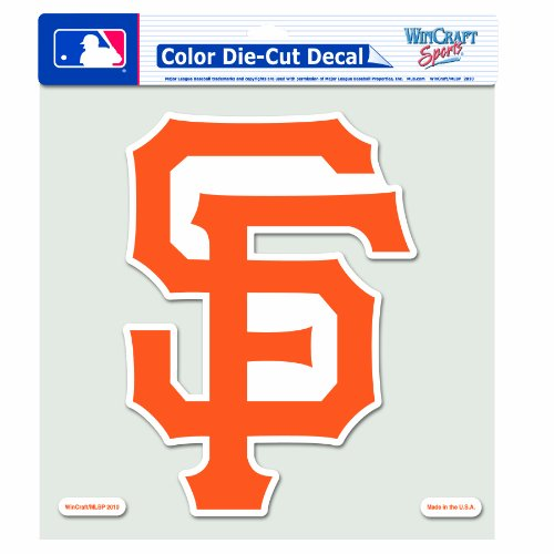 MLB San Francisco Giants 8-by-8 Inch Diecut Colored Decal