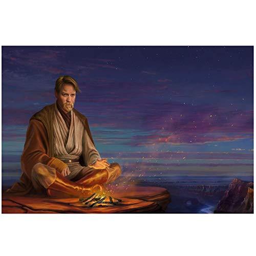 NRRTBWDHL Obi Wan Kenobi im Plakatdruck für Wanddekoration Raumdekoration Heimdekoration-50x75cm No Frame
