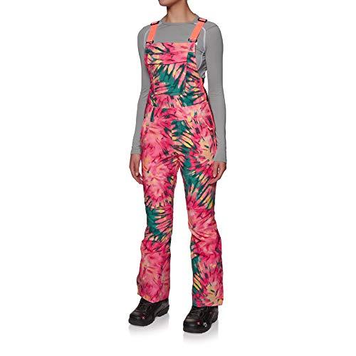 O'Neill Damen Snowboard Hose Shred Bib Pants, pink AOP w/Green, S
