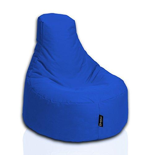 BuBiBag Sitzsack Gamer Playstation Sessel Lounge Kissen original Sitzkissen für In & Outdoor geeignet fertig befüllt mit EPS Styroporfüllung in 31 Farben erhältlich (80cm Durchmesser,Blau)