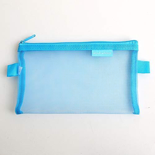 baratos y buenos PATRICK bolsa de malla 2 bolsillos transparentes con cremallera Estuche para bolígrafos a cuadros… calidad