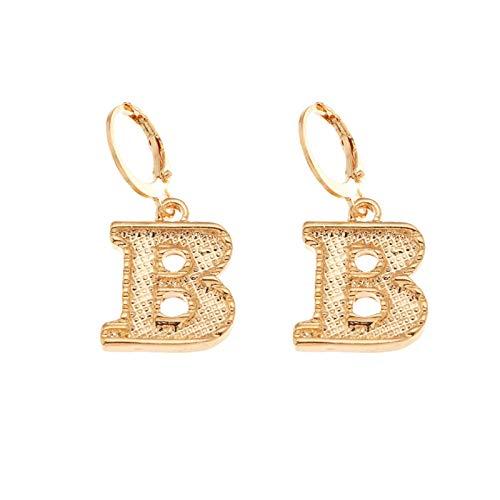 Fashion Punk Earrings Metal Alphabet Earrings for Women Girls