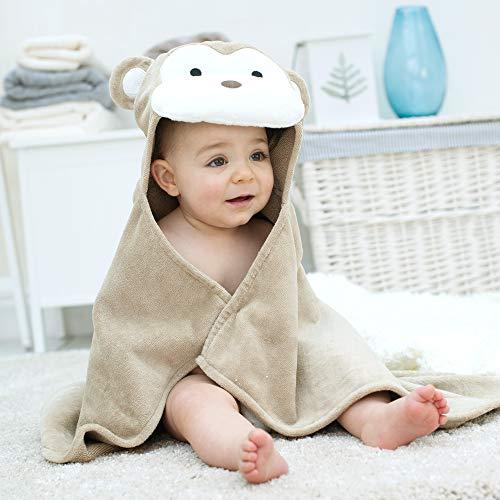 Bathing Bunnies - Serviette pour bébé à capuche tête de singe