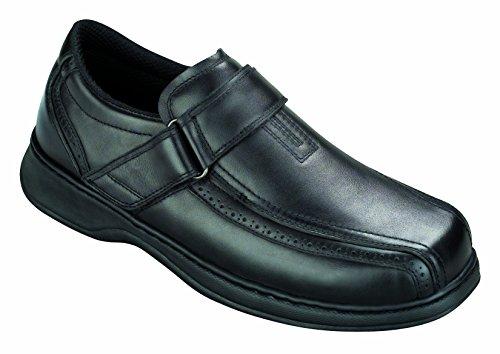 Orthofeet Plantar Fasciitis Pain Relief. Extended Widths. Orthopedic Diabetic Arthritis Men's Shoes, Lincoln Center Black