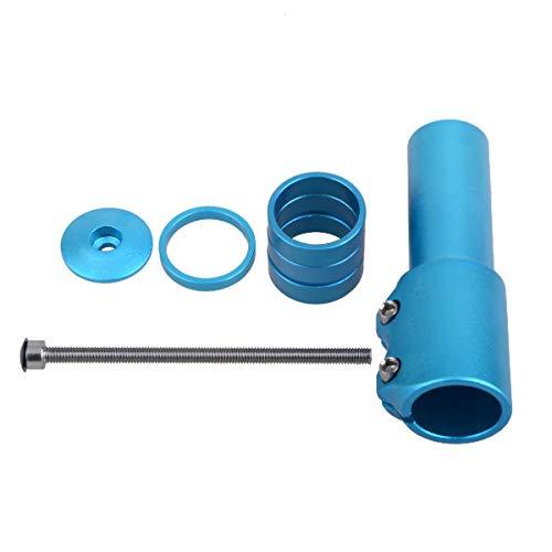 TRIWONDER MTB Fahrrad Gabelschaft Extender, Höhen-Adapter, Ahead Vorbau verstellbar, Aluminium Fahrradlenker Erhöhung (Blau) - 2