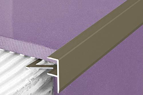 1 Stück | Rand Fliesenleiste | Alu | rostfrei | Effector | 2000x23x8mm | A85 | champagne
