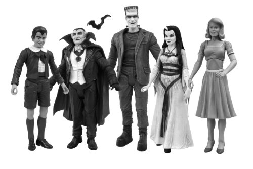 Diamond Select Toys The Munsters: Family Black and White Figure Set