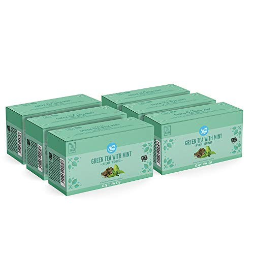 Amazon Brand - Happy Belly Green Tea with Mint (150 Tea Bags)