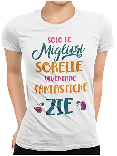 STAMPATEK Maglietta Zia Sorella T-Shirt Zia Nipotino Maglia Donna Divertente Idea Realo