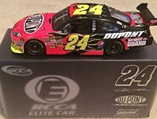 2009 #24 Jeff Gordon Dupont COT Flames Racing Collectables Car of America RCCA ELITE 1/24 Scale Diecast Top of the Line Diecast Hood Opens, Trunk Opens HOTO Individually Serialized Limited Edition