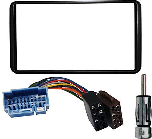 KIT Mascherina autoradio 2 DIN Connettore ISO adattatore antenna. PERFECT FICT.