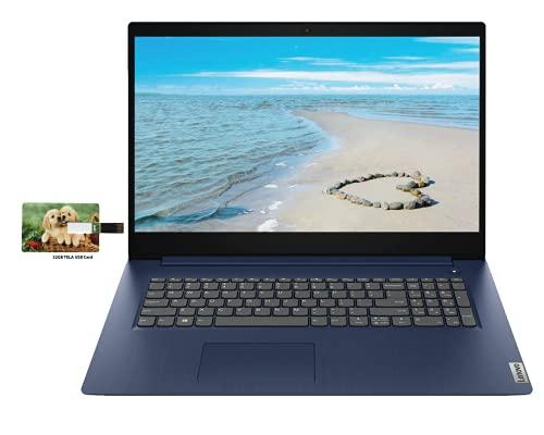 Newest Lenovo IdeaPad 3 17.3' HD Business Laptop, 10th Gen Intel Core i5-1035G1 (Beat i7-8550U), 16GB RAM 512GB SSD, for Business and Student, Webcam Windows 10 Pro   32GB Tela USB Card
