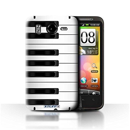 Stuff4 Var voor HTC-CC-toetsen/knoppen HTC Desire HD/G10 Piano