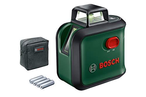 Bosch Home and Garden 0603663B03 kruislijnlaser AdvancedLevel 360 (werkbereik: tot 24 m, zelfnivellerend tot ± 4 laser, 4 x AA-batterijen, in doos), zwart, groen