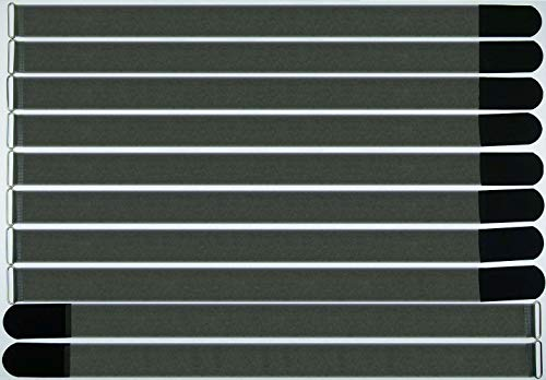 Preisvergleich Produktbild 10x 80 cm x 50 mm FUK wiederverschleßbare Klett-Kabelbinder SCHWARZ mit Metall-Öse - Kabel-Klettband 800 mm wiederverwendbar