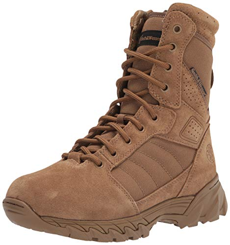Smith & Wesson Footwear Breach 2.0 Men's Tactical Side-Zip Boots - 5R, 9' Coyote